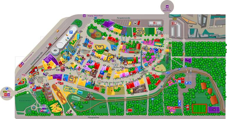 Mapa Prater