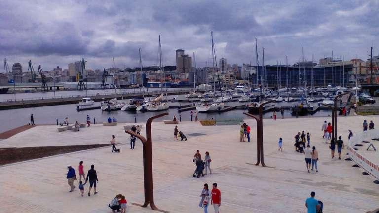 Zona peatonal La Marina