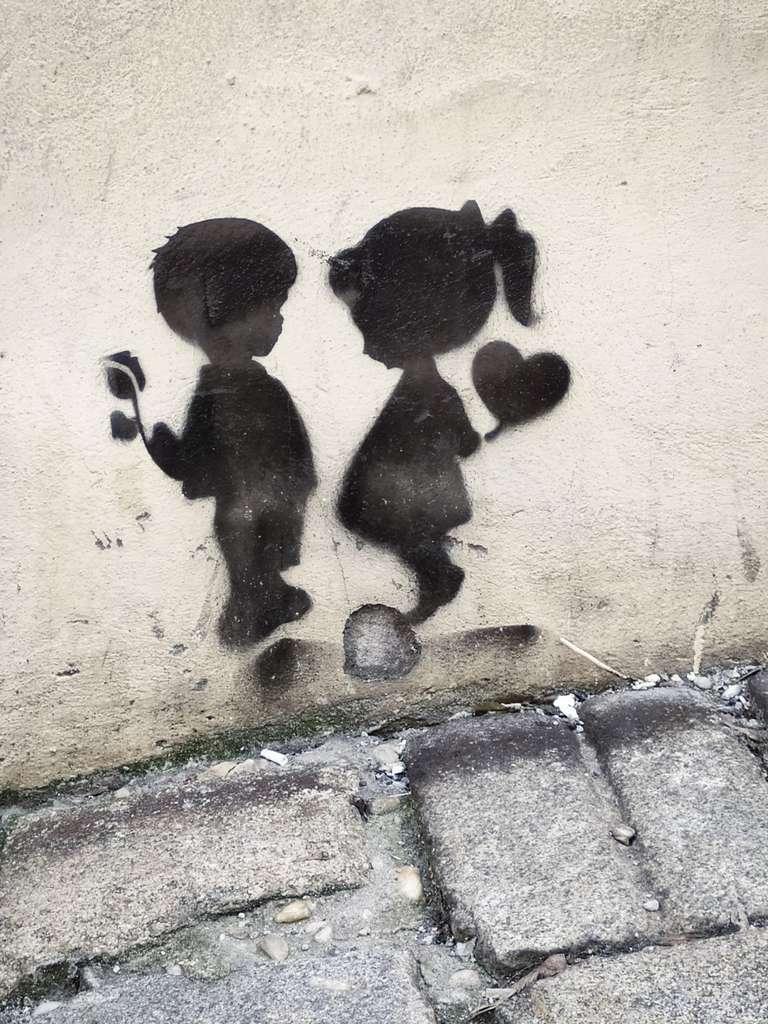 Grafitti niños Bratislava